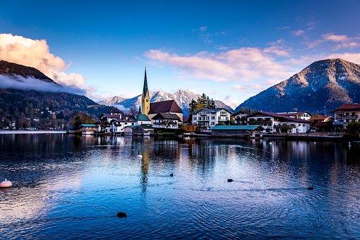 Mountains, Alpine, Wallberg, Upper Bavaria