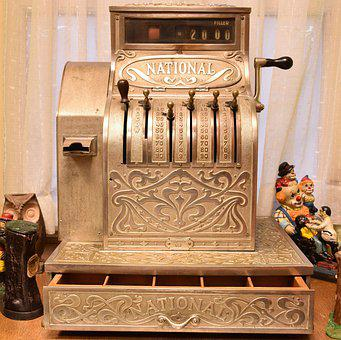 Calculator, Old, Vintage, Machine
