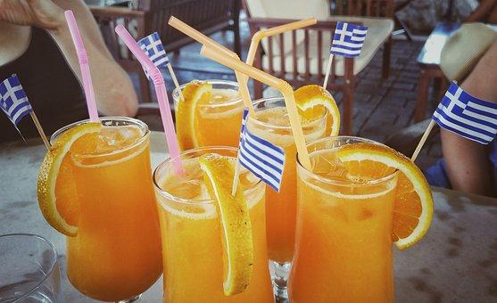 Drink, Juice, Oranges, Greece, Liquid, Refreshment