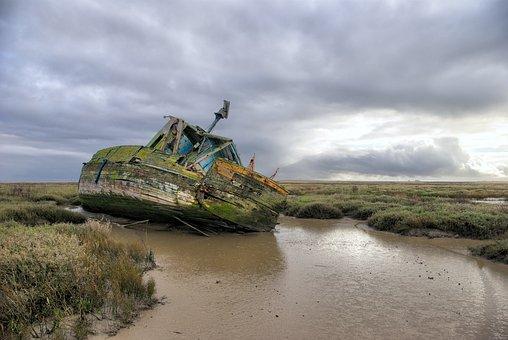Wreck, Boat, Ship, Old, Shipwreck, Nature, Landscape