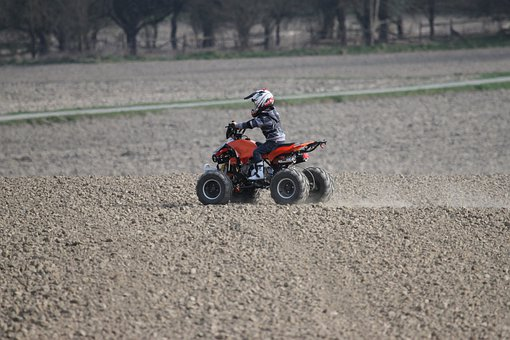 Quad, Driver, Action, Sporty, Summer