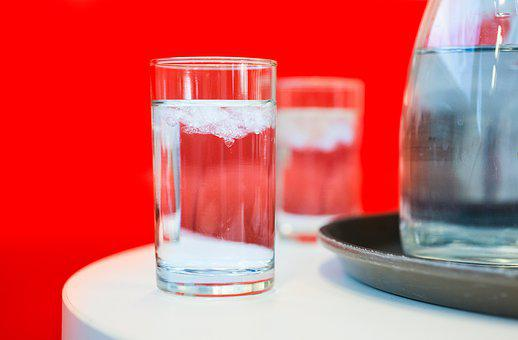 Glass, Cold, Water, Red, Drink, Ice, Refreshment