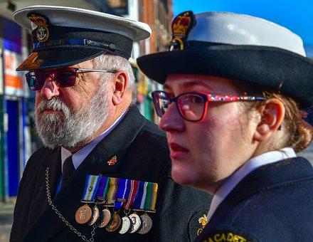 Portrait, Sea Cadets, Flag, Remembrance Day, Veterans
