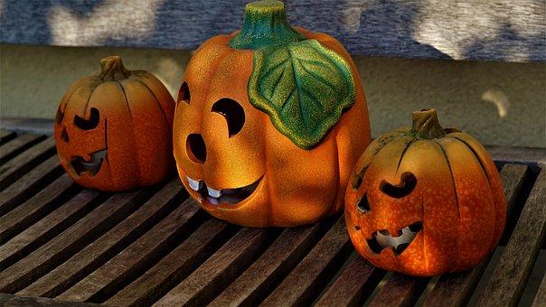 Background, Decoration, Autumn, Pumpkins, Heloween