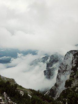 Mountain, Cloud, Outdoors, Sky, Fog, Forest, Scenic