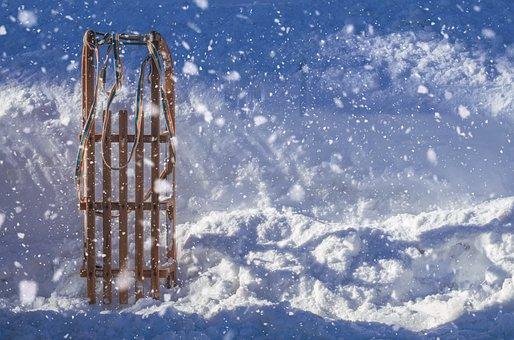 Slide, Snow, Fun, Toboggan, Snowfall, Winter, Cold