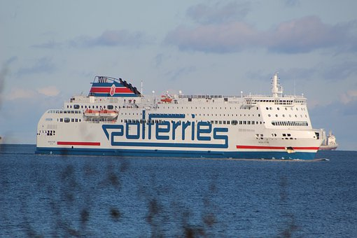 View, Sea, The Baltic Sea, Poland, Ferry, Water