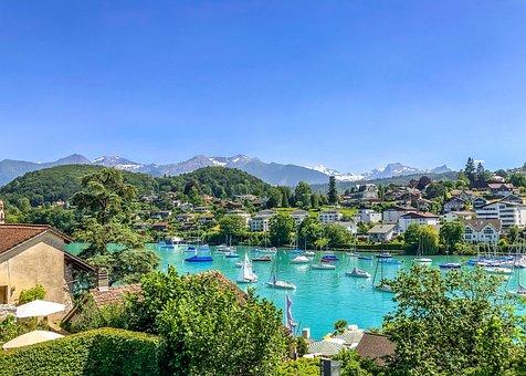 Switzerland, View, Alpine, Panorama, Landscape