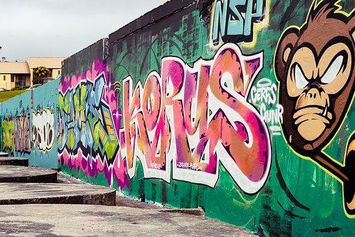 Graffiti, Urban, Paint, Wall, Grunge, Color, Design