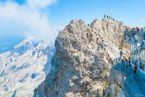 Zugspitze, Top Of Germany, Mountaineer, Summit, Alpine