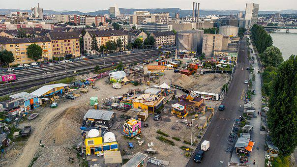 Basel, Rhine Board, Favela, Rhine, Switzerland, Party