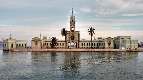 Brazil, Rio, Rio De Janeiro, Palace, Castle, Island