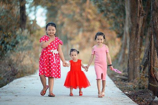 Kids, Countryside, Ca Mau Vietnamese, Village Street