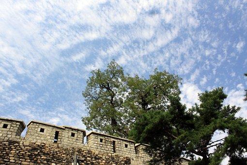 City Walls, Castle, Republic Of Korea, Seoul
