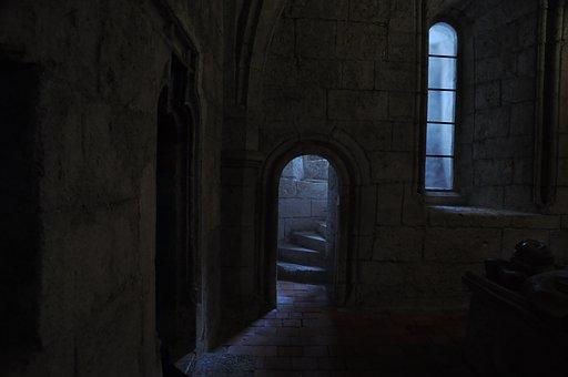 Light, Crypt, Door Opening, Church, Finish, Emergence
