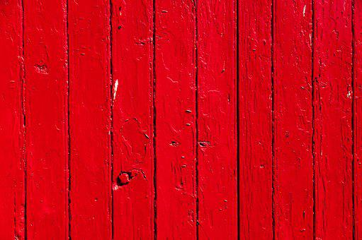 Red, Wood, Panels, Colorful, Color, Garage Door, Impact