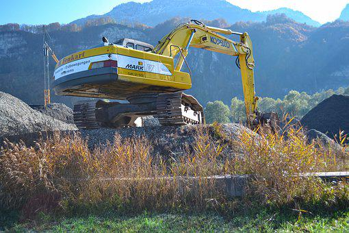 Excavator, Construction Machine, Machine, Construction