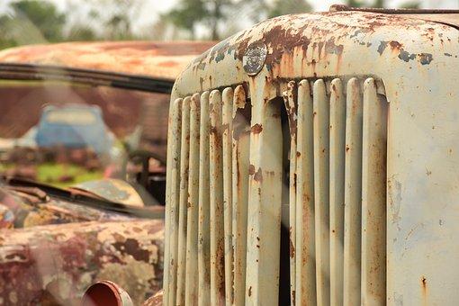 Scrap, Old, Truck, Nostalgia, Rusty, Retro, Vintage