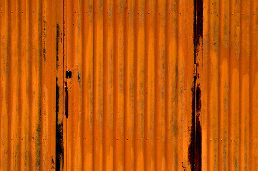 Orange, Texture, Corrugated, Pattern, Gold, Grunge