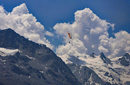 Paragliding, Alpine Crossing, Bernina Group