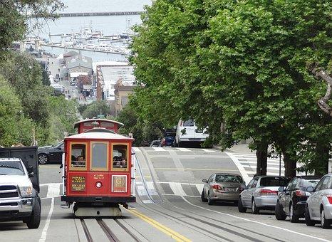 San Francisco, Tram, California, Usa, Transportation