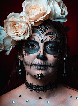 Catrina, Makeup, Skull, Skeleton, Mexico, Halloween