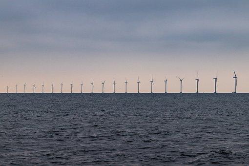 Denmark, Sea, Wind Power, Windräder, Energy