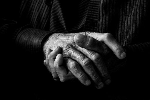 Hands, Blackandwhite, Person, Man, Human, Emotions
