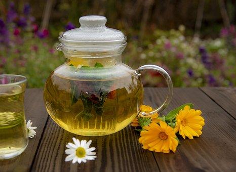 Tea, Calendula, Herbal, Drink, Flowers, Relaxation