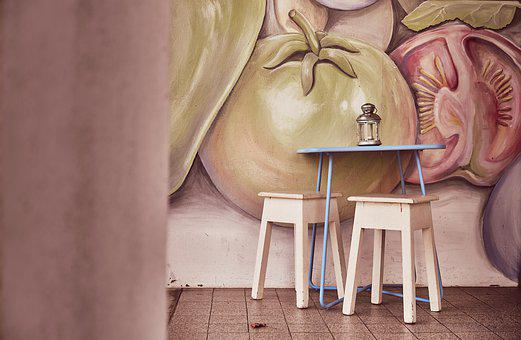 Cafe, Stool, Table, Furniture, Retro, Bar, Chair, Seat