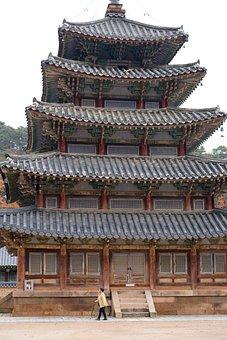 Korea, Temple, Section, Buddhism, Landscape, Religion