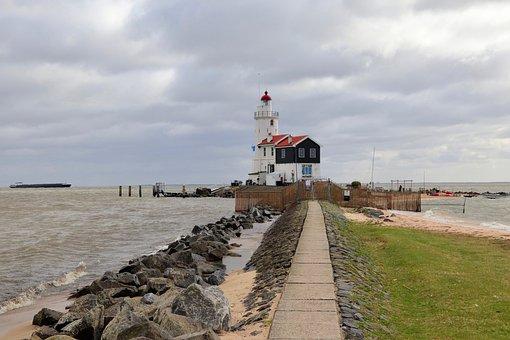 Brands, Lighthouse, Sea, Coast, Water, Maritime