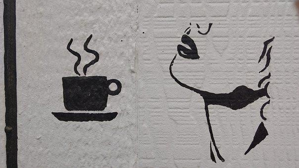 Coffee, Yummy, Black And White, Tea, Delicious, Cafe