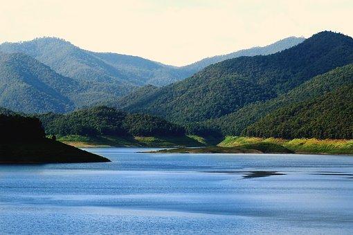 Lake, Mountain, View, Nature, Calm, River, Landscape
