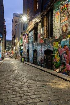 Hosier Lane, Laneway, City, Melbourne, Graffiti
