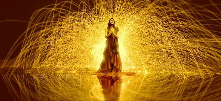 Woman, Prayer, Believe, Hope, Religion, Light