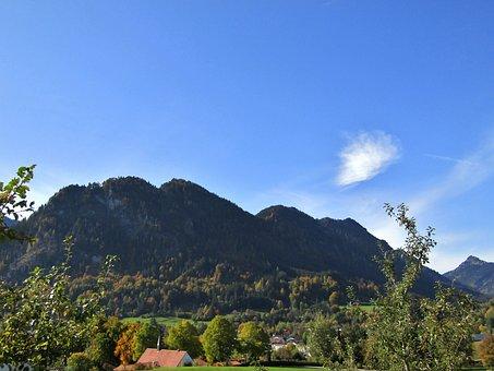 Kienberg, Landscape, Mountains, Trees, Sky, Blue