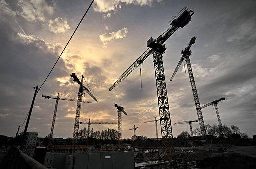 Cranes, Gloomy, Mood, Light, After Work, Rest, Crane