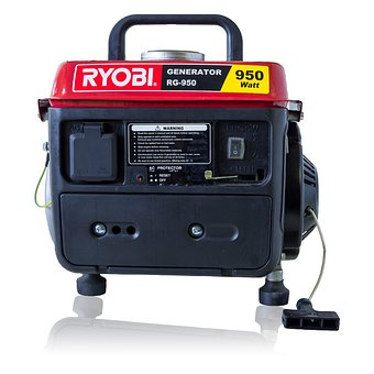 Isolated, Machine, Generator, Portable, Petrol, Power