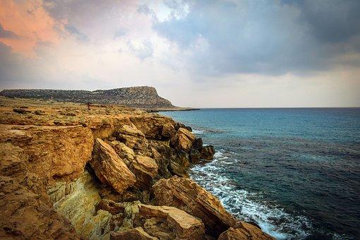 Cavo Greko, Cyprus, Nature, Cliff, Sea, Landscape