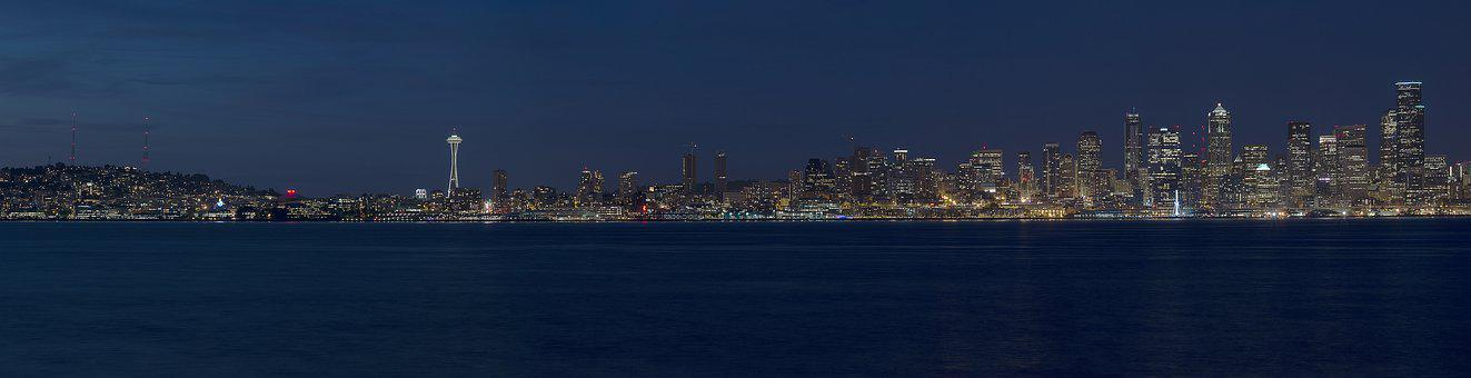 Seattle, City, Washington, Waterfront, Landscape