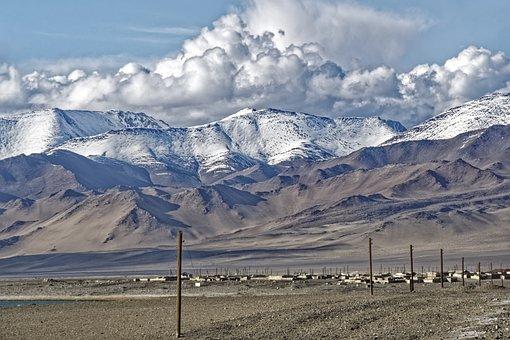 Tajikistan, Karakul Lake, Lake, Water, Karakul, Village