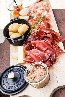 Sausage, Eat, Terroir, Aperitif, Wooden Board, Pot