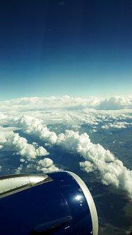 Plane, Vista, Cloud, Sky, Landscape, Alps, Reactor