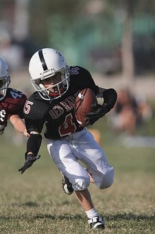 Football, Action, Running Back, Youth League, Boy