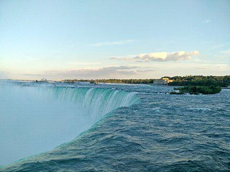 Niagara Falls, Buffalo, Usa, Waterfall, Sunset