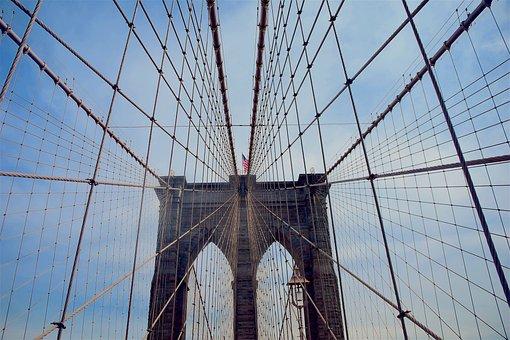Brooklyn Bridge, Nyc, Bridge, City, Brooklyn, Manhattan