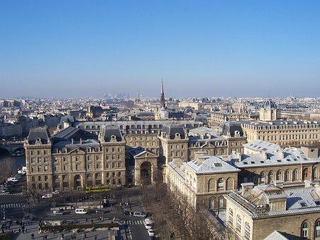 Paris, View, City, France, Overview