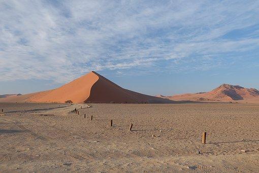 Namibia, Sossusvlei, Desert, Sand, Dune, Enormous