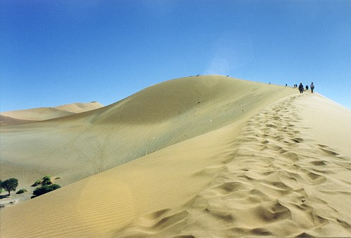 Sand, Dune, Desert, Africa, Namibia, Sky, Sand Dune